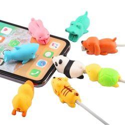 SIANCS Nette Tier puppe Kabel beißen protector für iphone usb kabel veranstalter wickler chompers ladegerät draht halter für iphone kabel