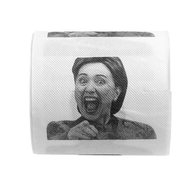 1Pc Hillary Clinton Toilet Paper Tissue Roll Funny Prank Joke Gift 2Ply 240Sheet