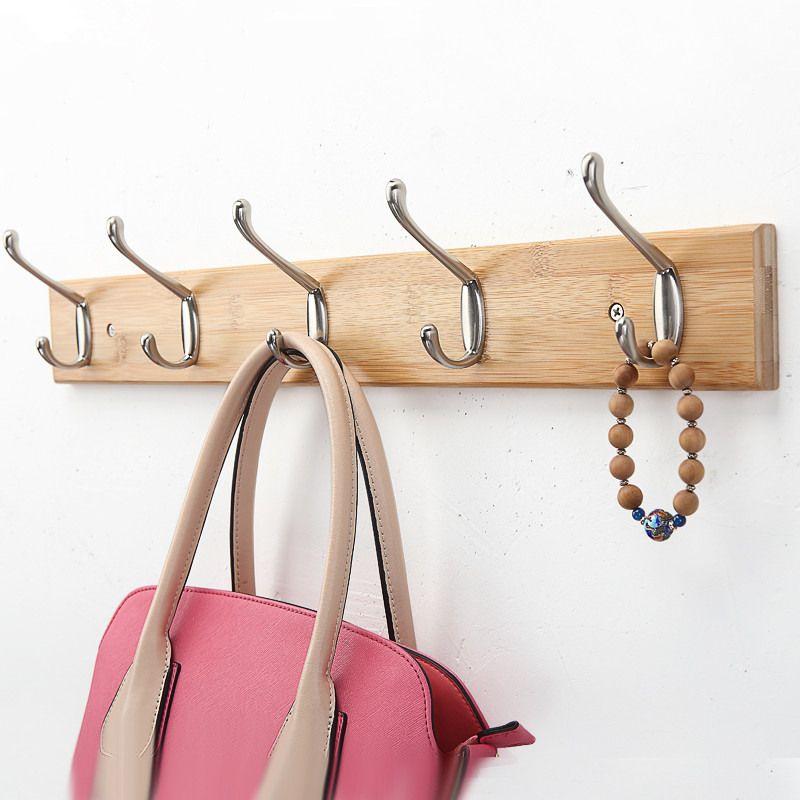 Творческий Спальня Стена бамбука крючок Вешалка европейском стиле висит одежда Стойки молния гостиная Интимные аксессуары