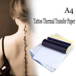 10 Lembar A4 Tato Transfer Kertas Copy Badan Seni Kertas Stensil Pelacakan Kertas Stupa Tato Profesional Upply Aksesoris