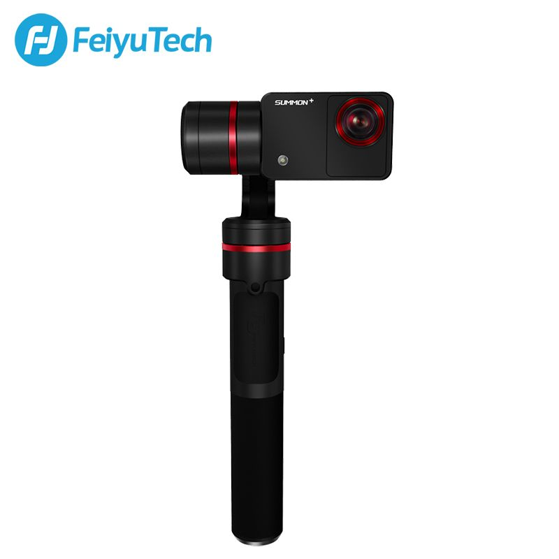FeiyuTech Summon Plus with Action Camera 3-Axis Handheld Gimbal Brushless Camera Stabilizer with 4K 1080P Action Cam