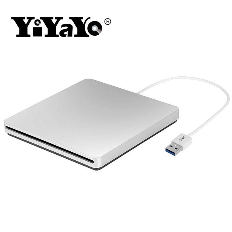 YiYaYo DVD RW Graveur Lecteur de DVD externe USB 3.0 CD/DVD ROM Lecteur Slot-in Lecteur Lire Écrivain super Slim Portable pour Ordinateur Portable