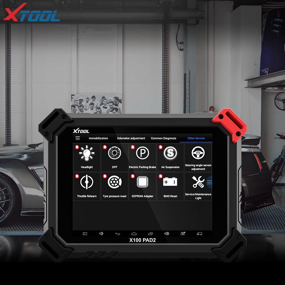 2018 XTOOL X100 PAD2 OBD2 Auto Schlüssel Programmierer Entfernungsmesser-korrektur Werkzeug Code Leser Auto Diagnose werkzeug mit Spezielle Funktion