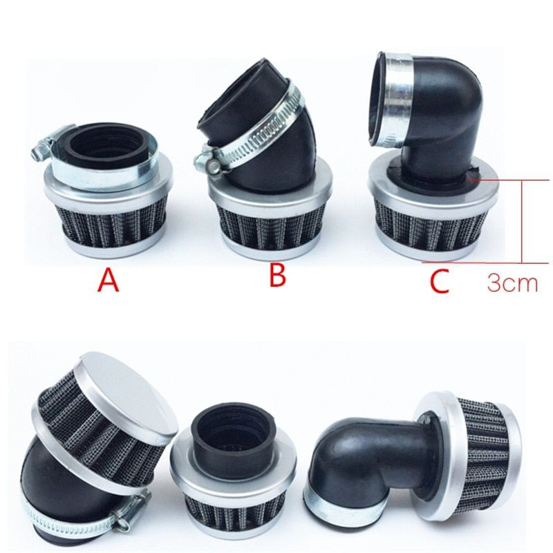 Motorcycle Scooter Tricycle Helical Bend Beam Car Modified 110 125 Filter Air Filter Diameter 32MM 35MM 38MM 40-42MM 48-50MM