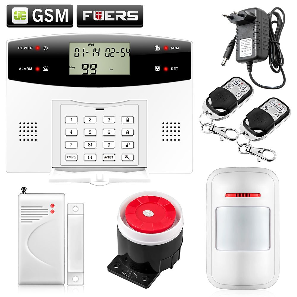 Metal Remote Control Dual-Network GSM/PSTN SMS Kit Burglar Alarm System Security LCD Keyboard Wireless Door Sensor GSM Alarm