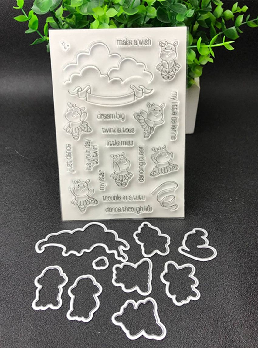 Dance Metal Cutting Dies and stamp Stencils for DIY Scrapbooking/photo album Decorative Embossing DIY Paper Cards Making Proj