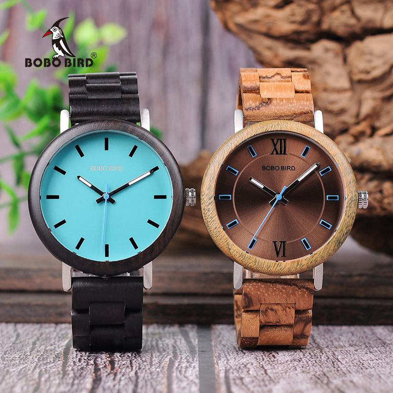 BOBO BIRD New Design Wooden Watches Wood Band Quartz Wristwatch For Men and Women Timepieces Accept OEM DROP SHIPPING W*Q07