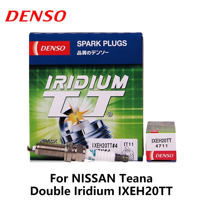 4pieces/set DENSO Car Spark Plug For NissanTeana 2.0L/2.5L Renault Megane Fluence Scenic  2.0L 2011-  Double Iridium IXEH20TT
