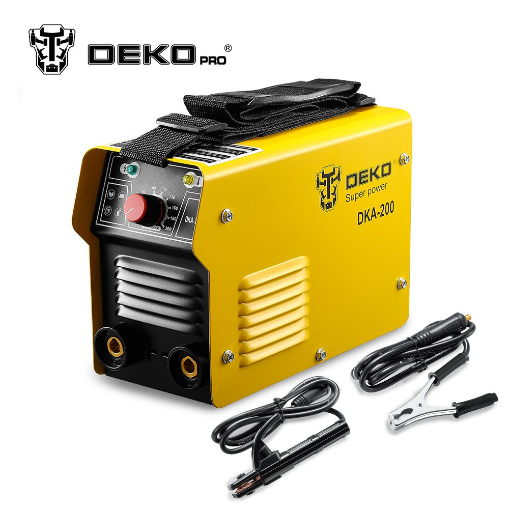 DEKOPRO <font><b>220V</b></font> Inverter AC Arc Welding Machine MMA Welder for Soldering and Electric Working w/ Accessories