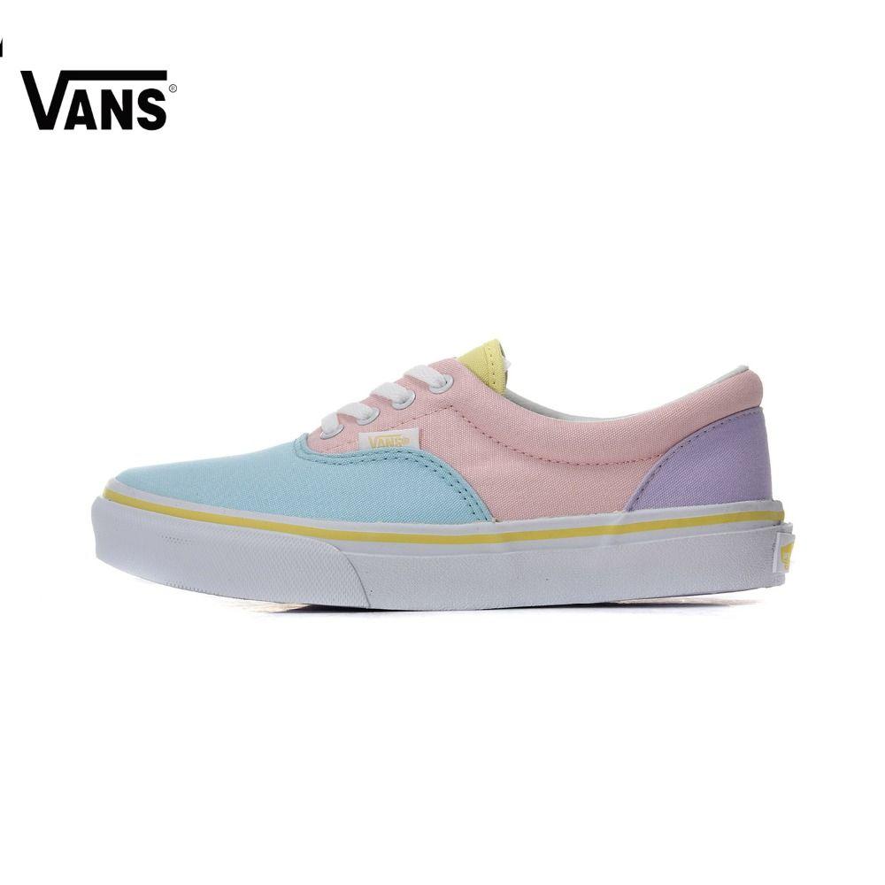 Original Vans Women Skateboarding Shoes Sports Shoes Era Canvas Shoes Authentic Sneakers free shipping