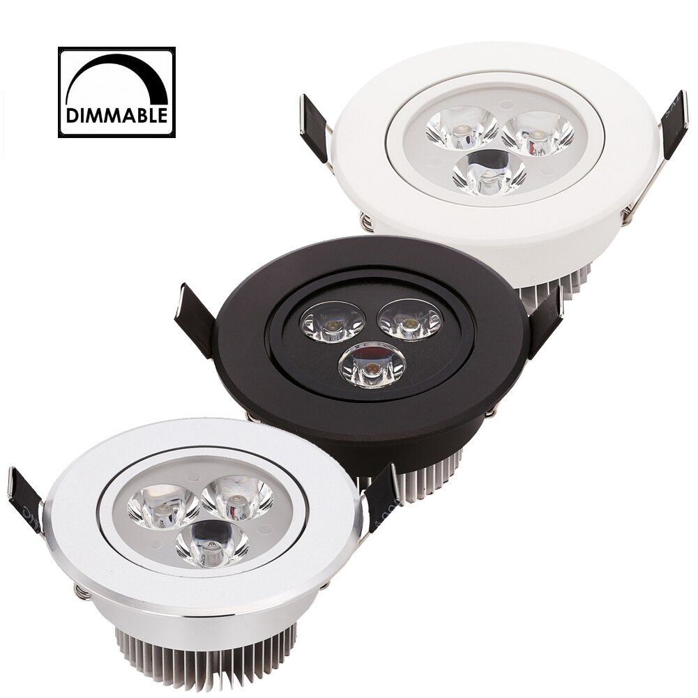 Dimmable LED Downlight 3W 4W 5W AC110V 220V Sandy Silver White Black Body House and Natural Daylight Warm Pure White