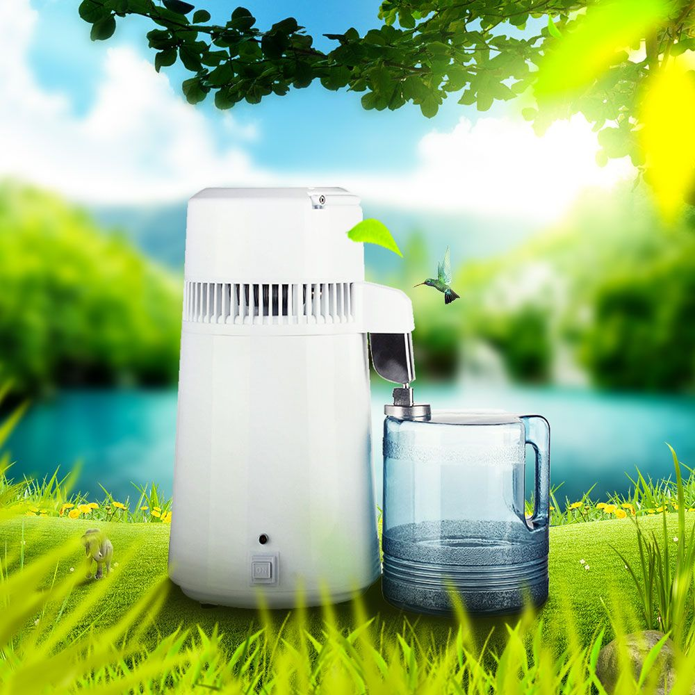 Beste 4L Reine Destilliertem Wasser Filter Maschine Zahnmedizin Wasser Distiller Destillation Purifier Ausrüstung Edelstahl Gehäuse