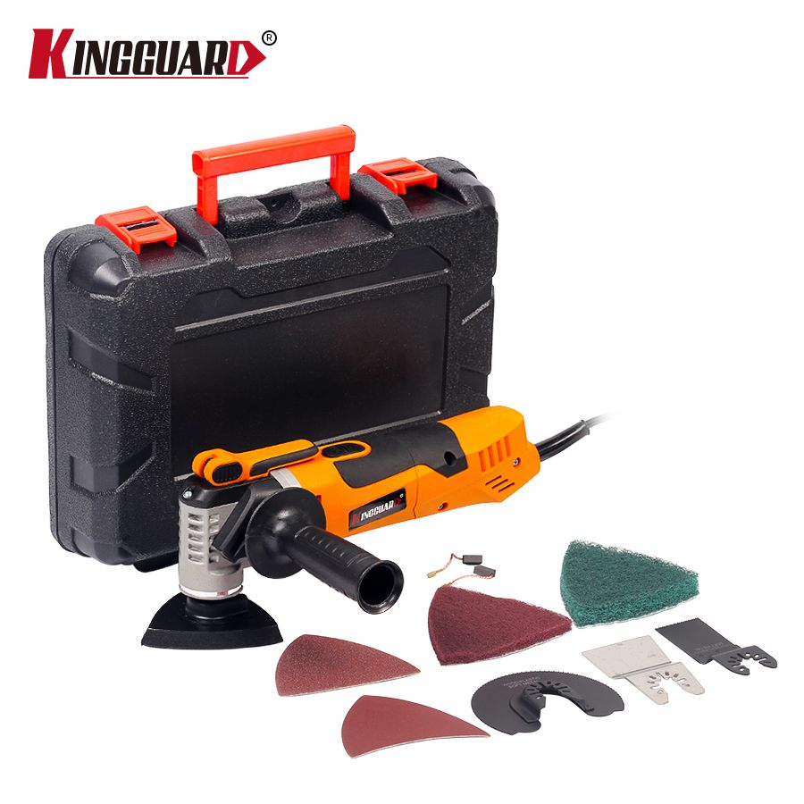 KINGGUARD Oscillating Trimmer Home Renovation Tool With Box Trimmer woodworking MultiFunction Electric Saw Renovator Tool