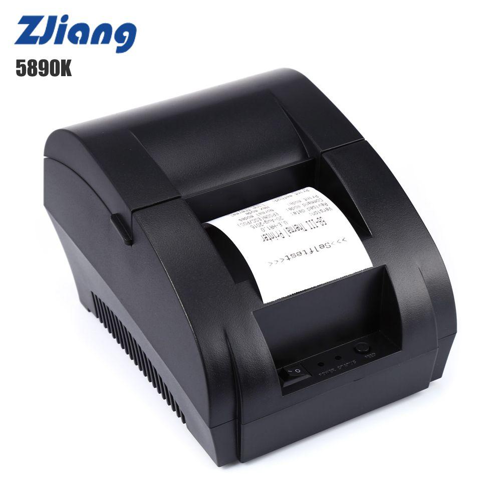 ZJ-5890K 58mm Priter thermique USB Port ECS POS réception Machine d'impression 70 mm/s 203 DPI pour supermarché PK H58