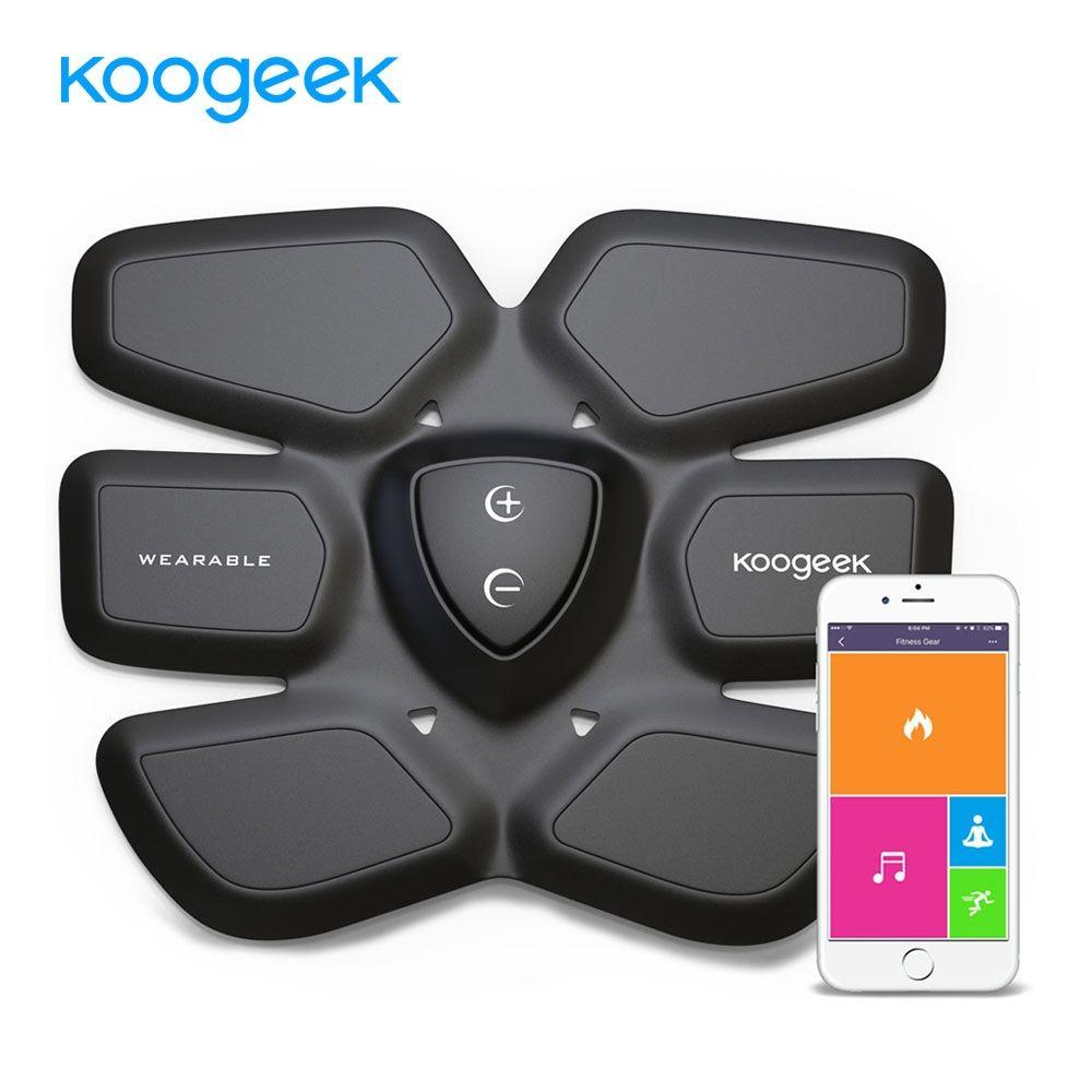Koogeek EMS Smart Fitness Gear Abdominal Exerciser Abdomen Fit Training Slimming Abdominal Muscles Intensive Training Massager