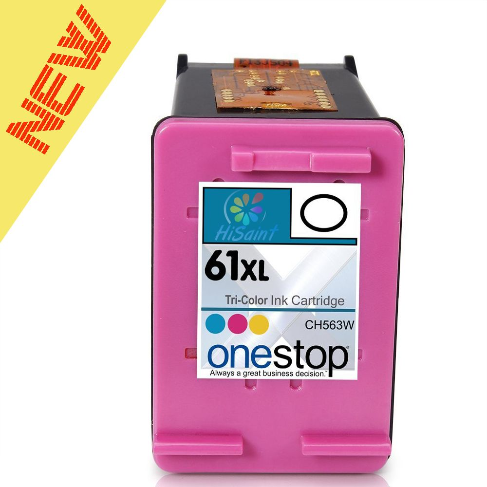 Hisain Brand For HP 61XL Color Inkjet Premium High Yield Ink Cartridge for HP 61 &  for HP 61XL - CH563WN CH564WN (Single Pack)