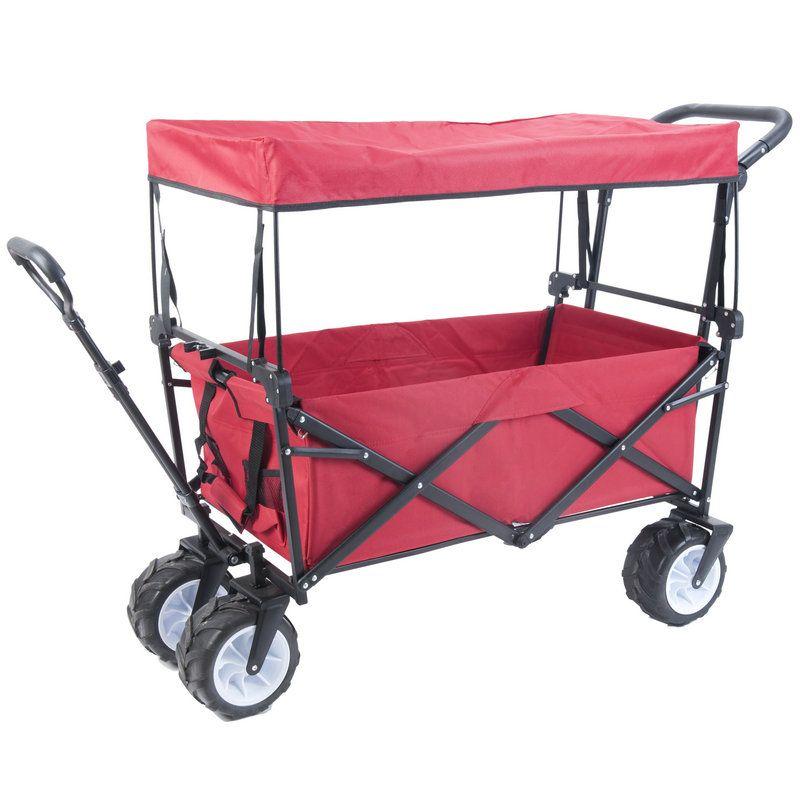 Outdoor Strand Trailer mit Erweitern 10 cm Gummi Rad, Faltbare Kinder Wagon, Tragbare Twins Warenkorb mit Dach, outdoor Strand Wagen