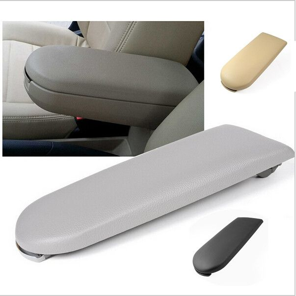 Leather Center Console Armrest Covers Caps w/ Latch Lip for GOLF/BORA MK4/GTI/ R32/New POLO 6R 9N 9N3 Car Accessories 8Z1158