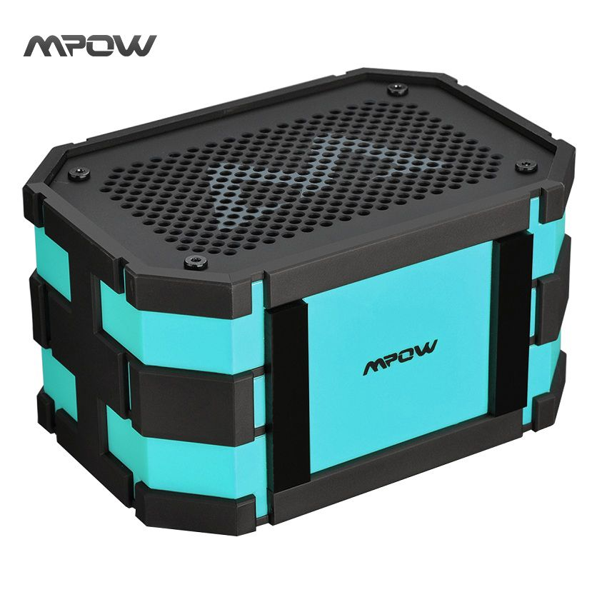 Mpow Armure Bluetooth Haut-Parleur Portable IP65 Étanche Antichoc Sans Fil Haut-Parleur 5 W Haut-Parleur + Extral 1000 mAh Puissance Banque