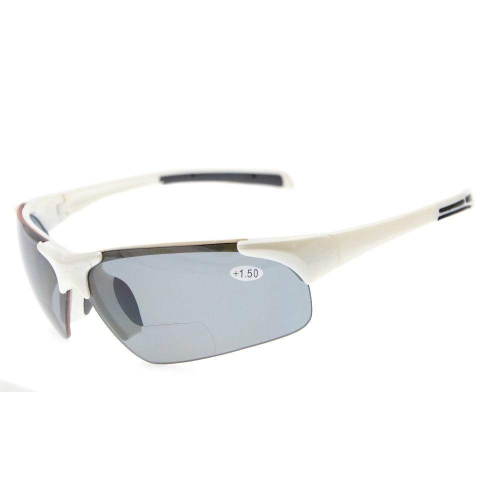 TH6186 Bifocale Eyekepper TR90 Sport Unbreakable de Demi-Sans Monture Bifocales Lunettes de Soleil + 1.0/+ 1.5/+ 2.0/+ 2.5/+ 3.0