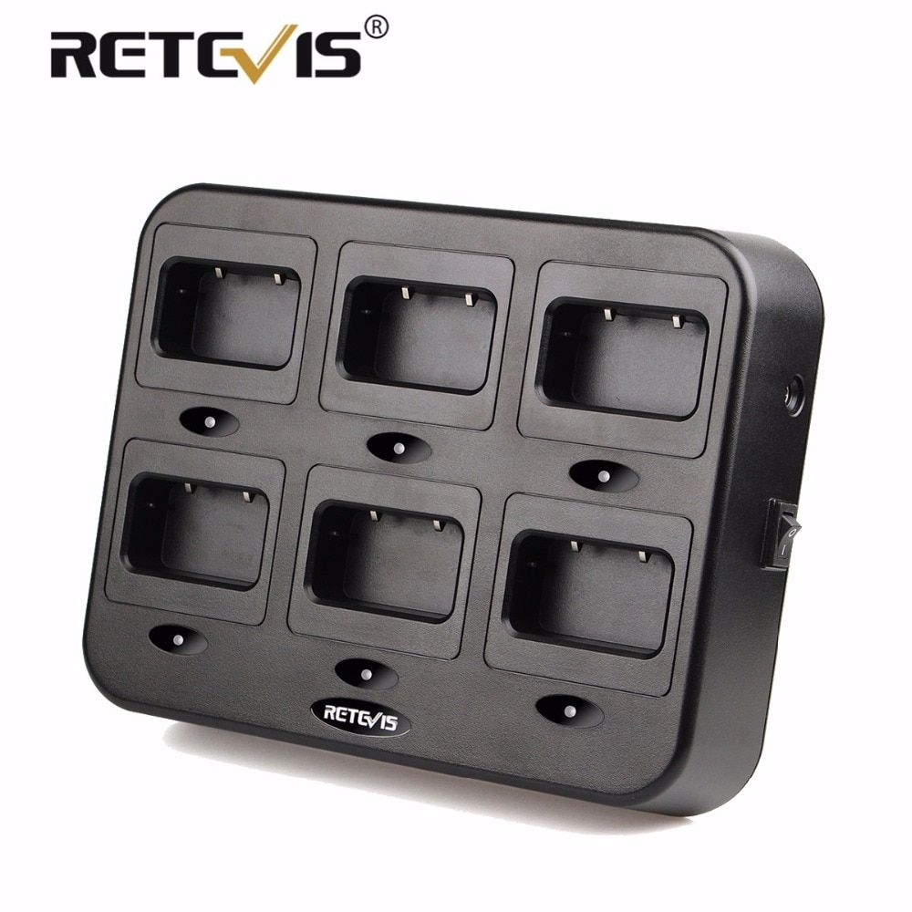 New Retevis RTC21 Six-Way Charger Radio/Battery Charger for Retevis RT21 RT24 For Hotel/Restaurant/Supermarket Walkie Talkie