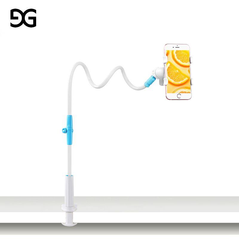 GUSGU Universal Stents Flexible Holder Lazy Mobile Phone Stand Long Arm Bed/Desktop <font><b>Clip</b></font> Bracket For iPhone/Xiaomi/Samsung