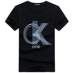 2018 Nouveau Casual manches courtes o-cou lettre imprimé coton t chemise hommes marque blanc noir t-shirt hommes t-shirt camisetas 88 k