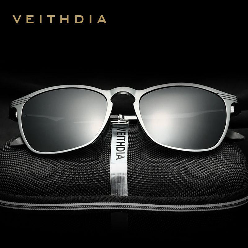 VEITHDIA Unisex Retro Aluminum Magnesium Brand Sunglasses Polarized Lens Vintage Eyewear Accessories Sun Glasses <font><b>Men</b></font>/Women 6630