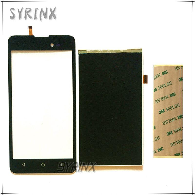 Syrinx With 3M Tape Touch Screen Digitizer Panel Glass For BQ BQ-5035 Velvet BQ 5035 BQS 5035 LCD Display Screen Sensor