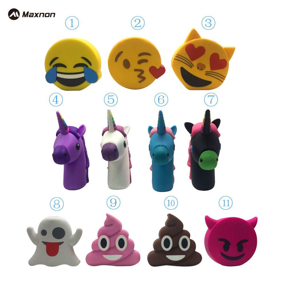 MAXNON 2000 mah Licorne Puissance Banque Mignon Portable Emoji PowerBank Chargeur de Bande Dessinée USB Batterie cas Bateria Pour Iphone 5 6 S Xiaomi