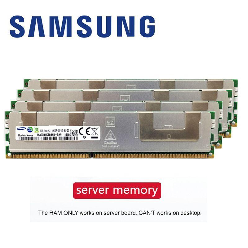 Samsung 4GB 8GB 16GB DDR3 PC3 1066Mhz 1333Mhz 1600Mhz 1866Mhz Serveur mémoire 8G 16G 1333 1600 1866 ECC REG 10600 14900 12800 RAM