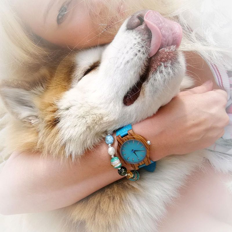 BOBO oiseau femmes montres zèbre en bois montres hommes bleu Turquoise montre amoureux grands cadeaux Relogio Masculino livraison directe