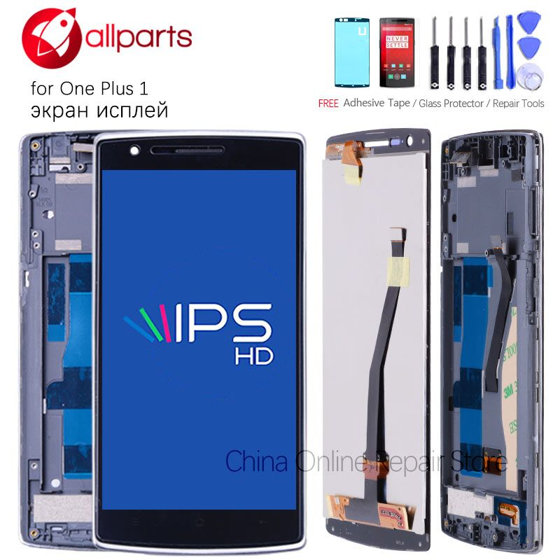 Original 5.5 inch LCD For Oneplus One Display Touch Screen with Frame For Oneplus 1 LCD Display A0001 1+1 Replacement