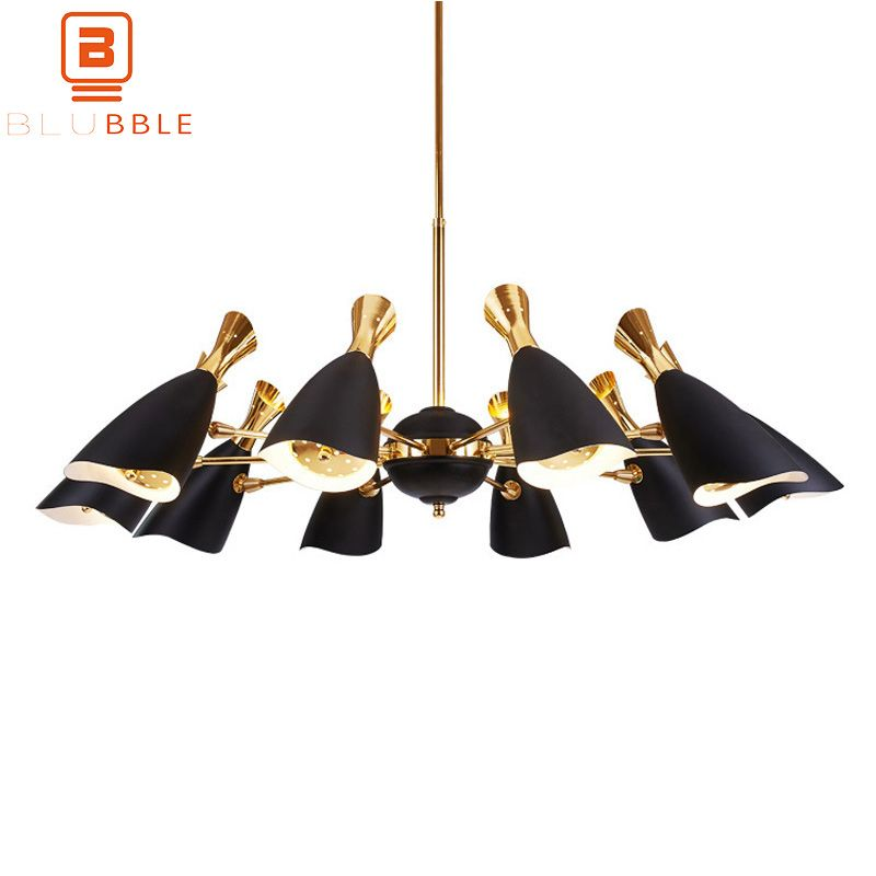 BLUBBLE 6/8/10/12 Heads Pendant Lights Nordic AC 90-260V Metal Pendant Lamp Postmodernism Simple Originality Bedrooms Hanglamp