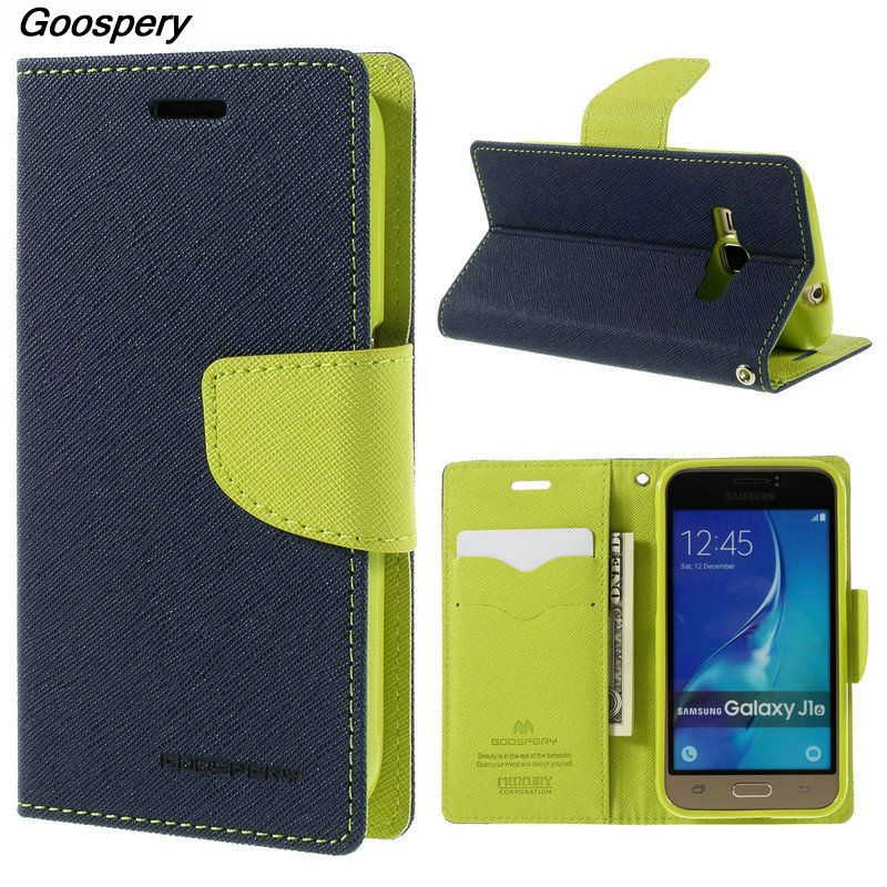 Mercure Goospery Double Couleur Cuir Flip Couverture De Cas Pour Samsung Galaxy S4 S5 S6 S8 A3 A5 A7 J1 J3 J5 J7 2016 2017 Premier Cas