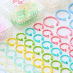 1 lindo kawaii coreano fácil anillo libro de papel Carpeta de hojas sueltas anillo llavero papelería accesorios de oficina