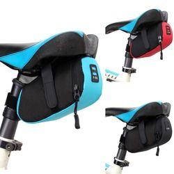 B-SOUL Sepeda Tas Bersepeda Sepeda Anti-Air 600D Nilon Penyimpanan Tas Pelana MTB Kursi Ekor Belakang Kantung Tas Sepeda 3 Warna 16*8*7 Cm