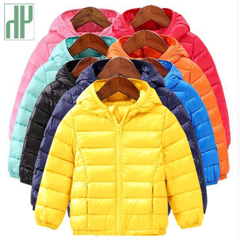 HH Baby Girls Boys Parka Light kids jacket <font><b>hood</b></font> Duck Down Coat winter children jacket spring fall toddler outerwear & coats 1-6T