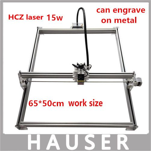 HCZ DIY 15w big power laser metal engraver cutting machine,50*65cm,big work size laser engrave machine,laser metal marking diy