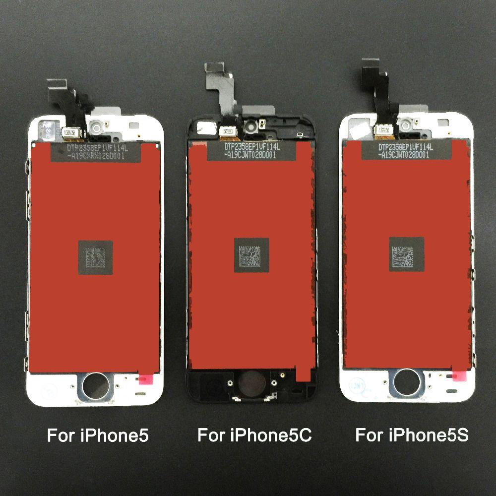 Bon Remplacement De Qualité Pour Iphone 5 iphone 5c iphone 5s LCD Affichage à L'écran Tactile Digitizer Assemblée Blanc Outils Gratuits