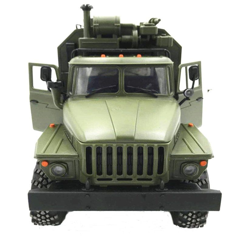 WPL B36 Ural 1/16 2.4G 6WD RC Car Military Truck Rock Crawler Command Communication Vehicle RTR Toy Green Kids Christmas Gift