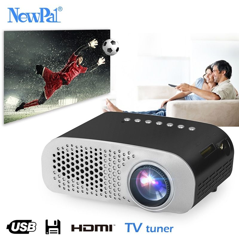Newpal LED Projector GP802A Home Beamer for Kids 1920*1080P Full HD Mini Projector Support SD HDMI USB with TV Tuner