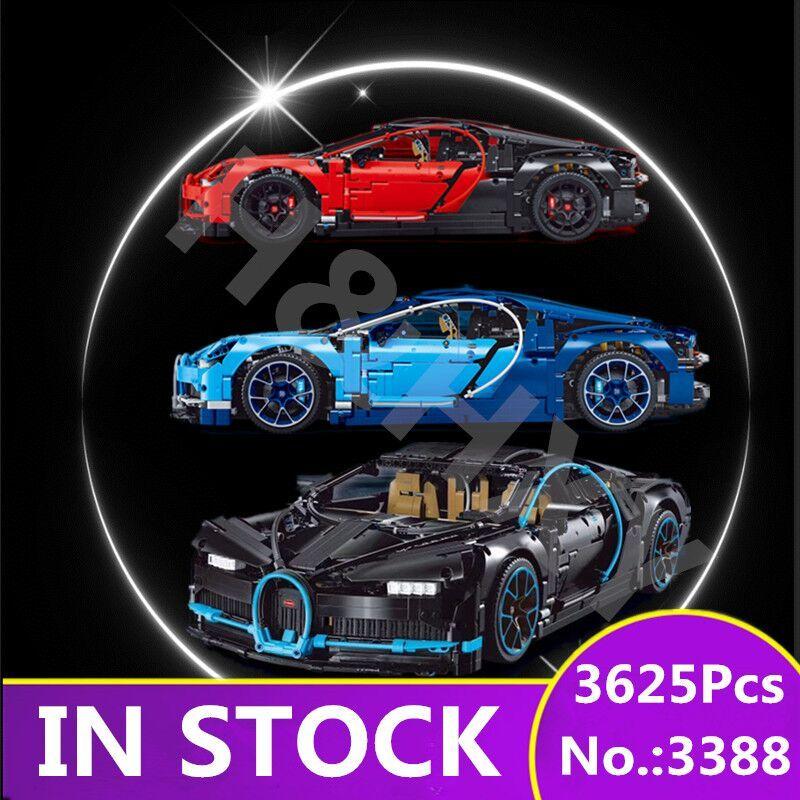 H&HXY Chiron Car bugattied 3625Pcs 3388 Racing DECOOL Model Building Blocks Bricks Toy legoings Technic Compatible 42083