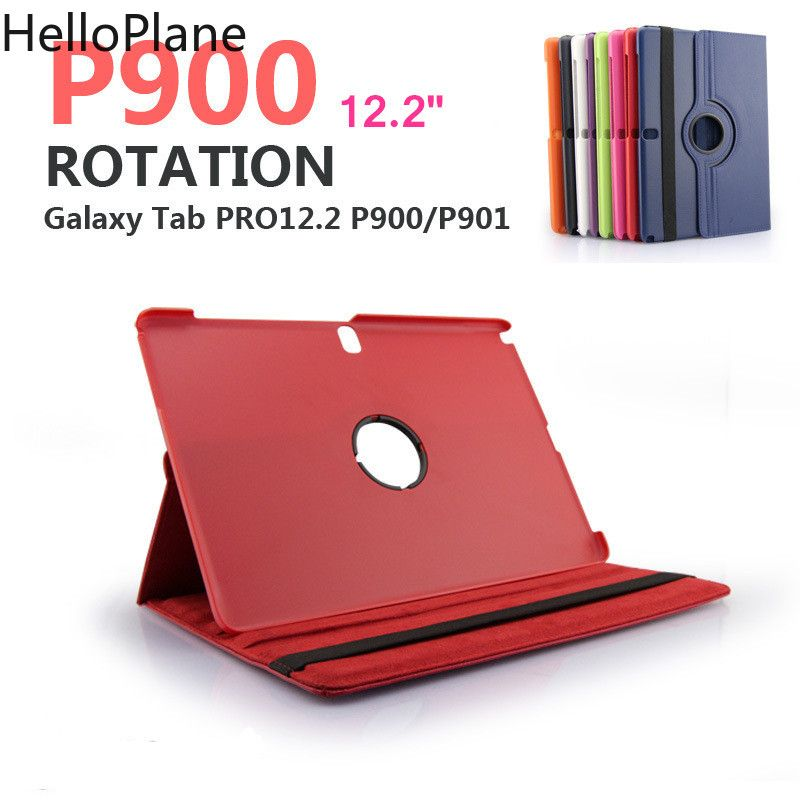 For Samsung Galaxy Tab Note Pro 12.2 inch P900 P901 P905 SM-P900 Tablet Case 360 Rotating Bracket Flip Stand Leather Cover