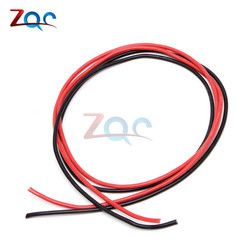 1set 14 AWG Gauge Wire Flexible Silicone Stranded Copper Cables For RC Black 1M + Red 1M = 2M