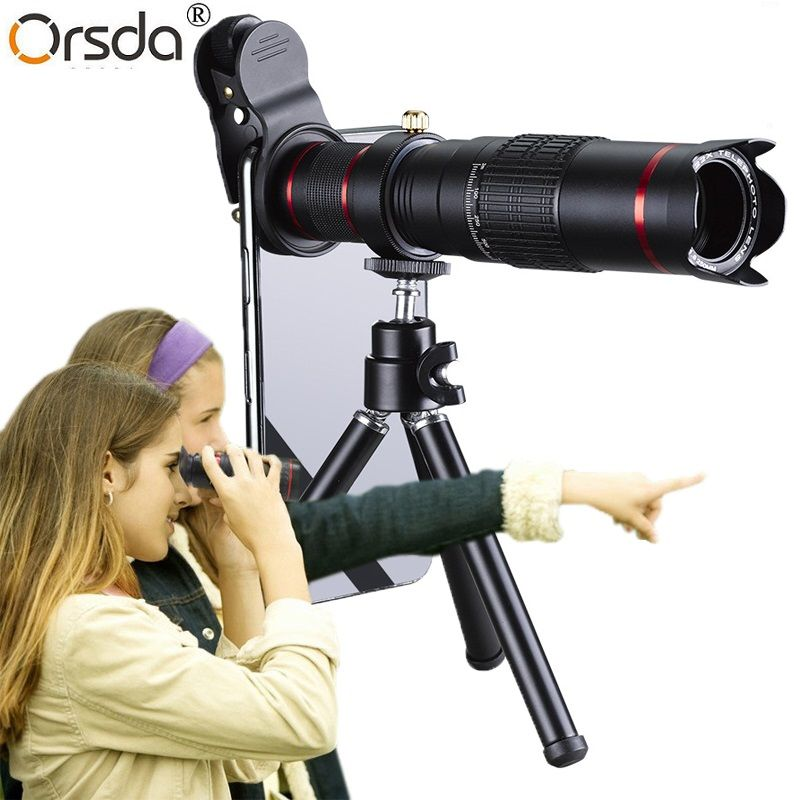 Orsda HD Mobile Phone Telescope 4K 22x Zoom Telephoto Lens External Smartphone Camera Lenses For IPhone Sumsung Smartphone