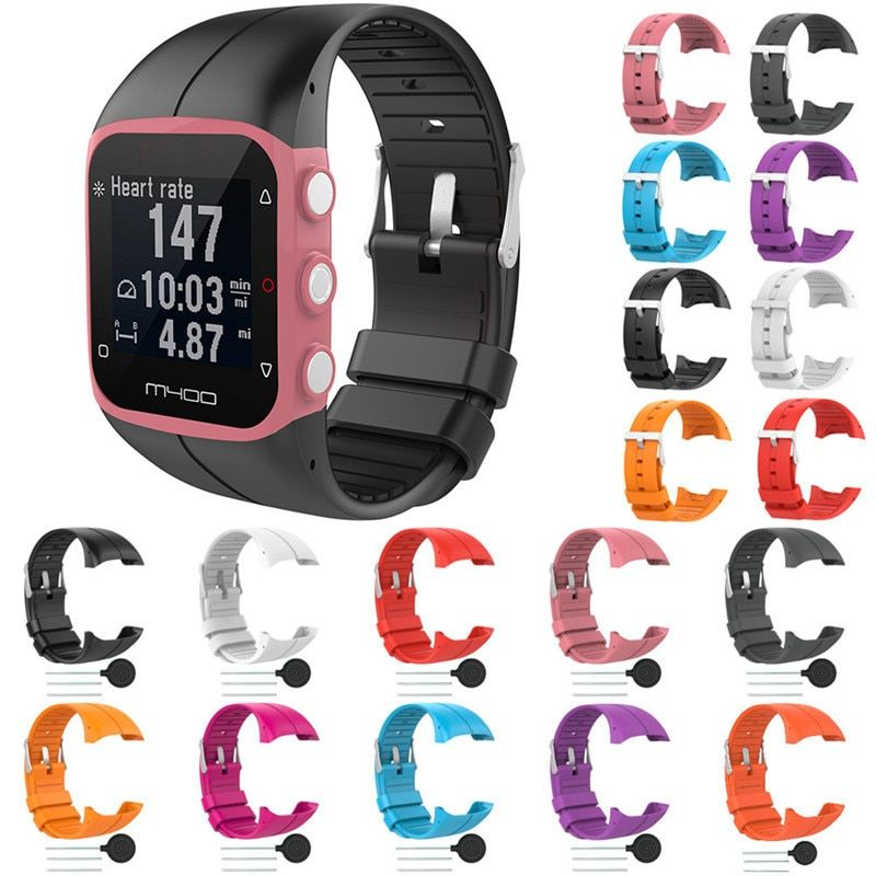 Silicone Replace Wrist Band For Polar M400 GPS Running Smart Watch Replacement Colorful Replace Watch Strap For Polar M400 M430