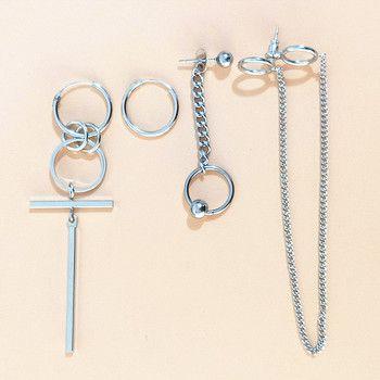 4pcs/set V BTS Earrings DNA Korean Earrings Long Men Bangtan Boys V DNA Stud Earring For Women Men BTS Album Accessories