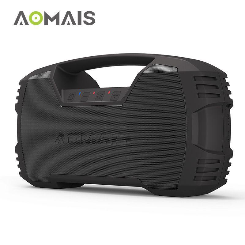 AOMAIS GO Bluetooth Speaker 30W Wireless Stereo Pairing Booming Bass Speaker 30-Hour Playtime IPX7 Waterproof Portable Speakers