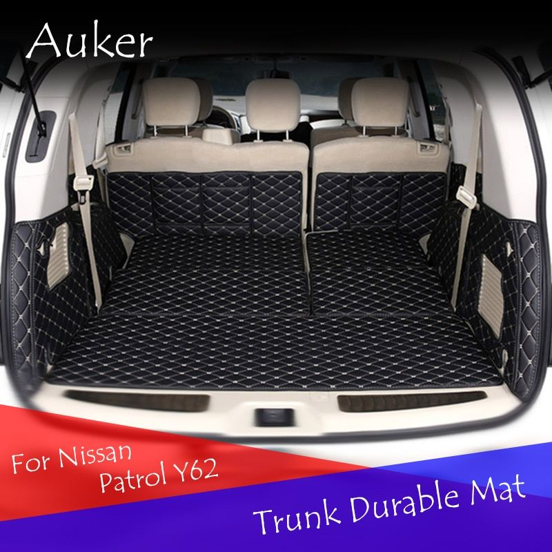 Auker Car Trunk Mat For Nissan Patrol Y62 2014 2016 Cargo Liner Interior Accessories Carpet car styling